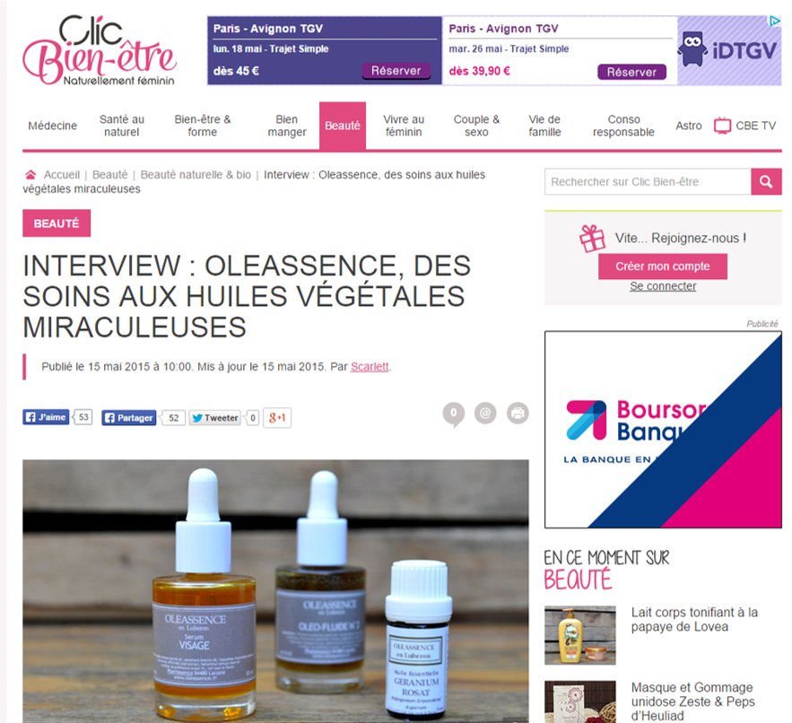 Article Clicbienetre.com