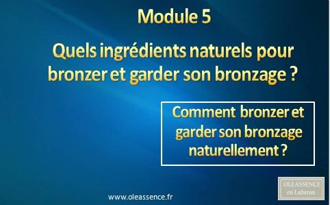 Comment bronzer et garder son bronzage: Module 5