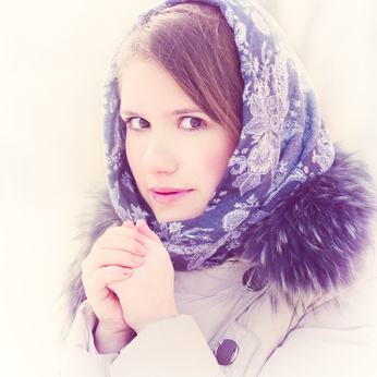 Femme avec rosacée