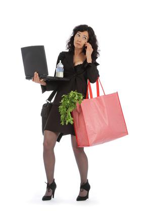 Femme débordée et stressée