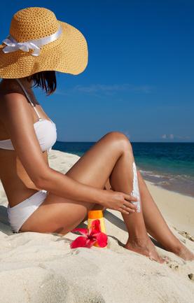 femme bronzant taches marron