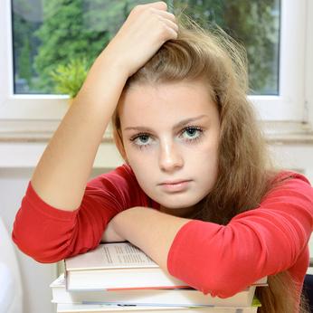 Adolescente stressée