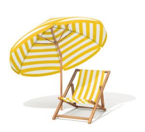 Parasol protecteur de la lucite estivale