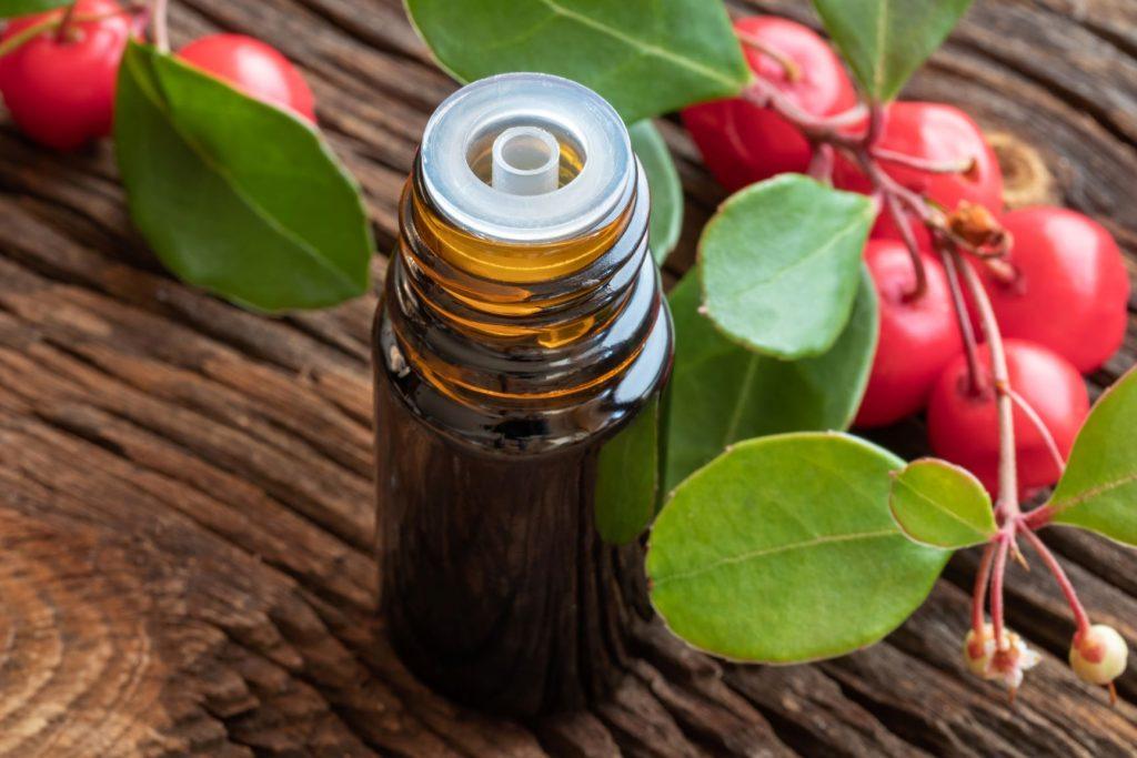 flacon d'huile essentielle de Gaulthérie